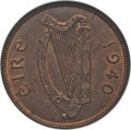 Ireland, Ireland: Republic Penny 1940 MS65 Red and Brown ANACS,...