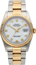 Timepieces:Wristwatch, Rolex Ref. 16233 Gent's Two Tone Oyster Perpetual Datejust, circa 2001. ...