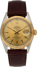 Timepieces:Wristwatch, Rolex Ref. 16013 Steel & Gold Oyster Perpetual Datejust, circa1978. ...
