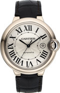 Timepieces:Wristwatch, Cartier Gent's White Gold Ballon Bleu Automatic Ref. 3000. ...