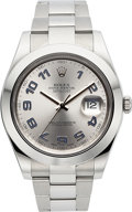 Timepieces:Wristwatch, Rolex Ref. 116300 Datejust II Blue Arabic Numerals. ...