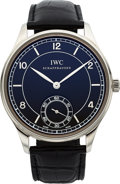 "Timepieces:Wristwatch, IWC Ref. IW544501 ""Vintage Collection"" Steel Portuguese Wristwatch...."