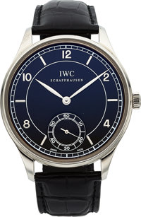 """IWC Ref. IW544501 """"Vintage Collection"""" Steel Portuguese Wristwatch"""
