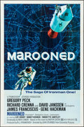 "Movie Posters:Science Fiction, Marooned (Columbia, 1969). One Sheet (27"" X 41"") Style B &Partial Three Sheet (41"" X 68.5""). Science Fiction.. ... (Total: 2Items)"