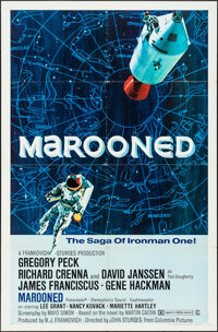 """Marooned (Columbia, 1969). One Sheet (27"""" X 41"""") Style B & Partial Three Sheet (41"""" X 68.5"""")..."""