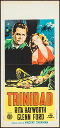 "Movie Posters:Film Noir, Affair in Trinidad (Rome International Films, R-1960). ItalianLocandina (12.75"" X 26.5""). Film Noir.. ..."