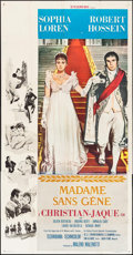 "Movie Posters:Foreign, Madame Sans-Gêne (Cinedis, 1963). Three Sheet (41"" X 79""). Foreign.. ..."
