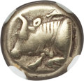 Ancients:Greek, Ancients: IONIA. Phocaea. Ca. 477-388 BC. EL sixth stater or hecte(2.48 gm). NGC VF 5/5 - 5/5....