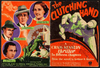 """The Clutching Hand (Stage and Screen Productions, 1936). Pressbook (36 Pages, 9"""" X 11""""). Serial"""