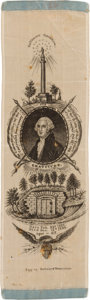 Political:Ribbons & Badges, George Washington: An Exceptional 1832 Ribbon Celebrating the 100th Anniversary of his Birth. ...