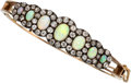 Estate Jewelry:Bracelets, Victorian Opal, Diamond, Silver-Topped Gold Bracelet . ...