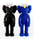 General Americana, KAWS (b. 1974). BFF (Open Edition) (Black and MoMA), 2017.Painted cast vinyl. 13-1/2 x 5 inches (34.3 x 12.7 cm) (each)...(Total: 2 Items)