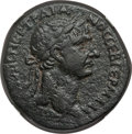 Ancients:Roman Provincial , Ancients: SYRIA. Antioch. Trajan (AD 98-117). AE As (18.38 gm). NGCChoice VF 4/5 - 4/5....