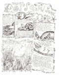 "Original Comic Art:Complete Story, Dame Darcy Meat Cake V2#2 Complete 1-Page Story ""Possessed Snail"" Original Art (Fantagraphics, 1994)...."