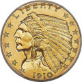 Proof Indian Quarter Eagles, 1910 $2 1/2 PR66 PCGS....