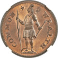 Colonials, 1787 1/2 C Massachusetts Half Cent, Ryder 4-C, W-5940, R.2, MS65 Red and Brown NGC. CAC....