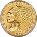 Indian Half Eagles, 1914-S $5 MS63 PCGS. CAC....