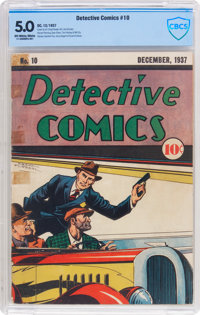 Detective Comics #10 (DC, 1937) CBCS VG/FN 5.0 Off-white to white pages