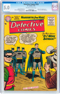 Golden Age (1938-1955):Superhero, Detective Comics #225 (DC, 1955) CGC VG/FN 5.0 Off-white to white pages....