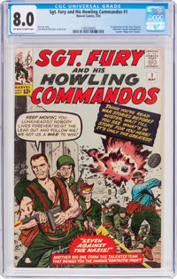 Sgt. Fury and His Howling Commandos #1 (Marvel, 1963) CGC VF 8.0 Off-white to white pages
