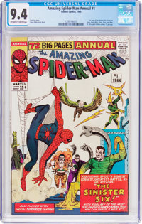 The Amazing Spider-Man Annual #1 (Marvel, 1964) CGC NM 9.4 Off-white to white pages