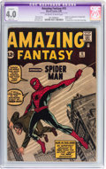 Silver Age (1956-1969):Superhero, Amazing Fantasy #15 (Marvel, 1962) CGC Apparent VG 4.0 Slight (A)Off-white to white pages....