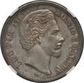 German States:Bavaria, German States: Bavaria. Ludwig II 5 Mark 1874-D AU58 NGC,...