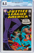 Silver Age (1956-1969):Superhero, Justice League of America #75 (DC, 1969) CGC VF+ 8.5 Off-white to white pages....