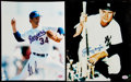 Baseball Collectibles:Photos, Nolan Ryan & Johnny Mize Signed Photograph Pair (2). . ...