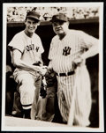 Baseball Collectibles:Photos, Ted Williams and Babe Ruth Type III Photograph.. ...