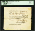 Colonial Notes, Connecticut Pay Table Office £10 Sep. 23, 1782 PCGS Very Fine 25.. ...