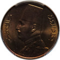 Egypt, Egypt: Fuad I Specimen Millieme1933-H SP66 Red and BrownPCGS,...