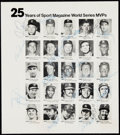 Baseball Collectibles:Photos, 1979 25 Years of Sport Magazine World Series MVP Signed Leaflet -Includes 18 Signatures. . ...