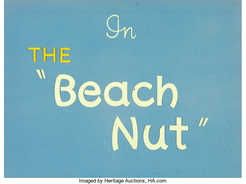 Animation Art Production Cel The Beach Nut Le And Drawing