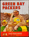 Football Collectibles:Publications, 1962 Green Bay Packers Rare Red Variation Yearbook. . ...