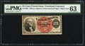 Fractional Currency:Fourth Issue, Fr. 1302 25¢ Fourth Issue PMG Choice Uncirculated 63.. ...