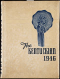 """Basketball Collectibles:Others, 1946 University of Kentucky """"The Kentuckian"""" Yearbook, with Adolph Rupp. . ..."""