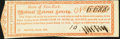 State of New York Medical Science Lottery First Lottery Ticket Mar. 12, 1810