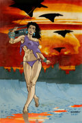 Original Comic Art:Covers, Don Simpson and Lovern Kindzierski Wasteland #2 CoverOriginal Art (DC Comics, 1988)....