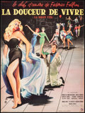 """Movie Posters:Foreign, La Dolce Vita (Pathe, 1960). Trimmed French Petite (21"""" X 15.75""""). Foreign.. ..."""