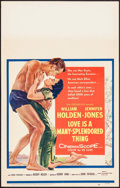 "Movie Posters:Drama, Love is a Many-Splendored Thing (20th Century Fox, 1955). WindowCard (14"" X 22""). Drama.. ..."