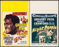 "Movie Posters:War, The Purple Plain & Other Lot (United Artists, 1955). WindowCards (2) (14"" X 22""). War.. ... (Total: 2 Items)"