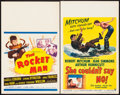 "Movie Posters:Science Fiction, The Rocket Man & Other Lot (20th Century Fox, 1954). WindowCards (2) (14"" X 22""). Science Fiction.. ... (Total: 2 Items)"