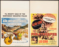 "Movie Posters:Adventure, Saskatchewan & Other Lot (Universal International, 1954).Window Cards (2) (14"" X 22""). Adventure.. ... (Total: 2 Items)"