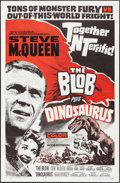 "Movie Posters:Horror, The Blob/Dinosaurus Combo (Allied Artists, R-1964). One Sheet (27""X 41""). Horror.. ..."