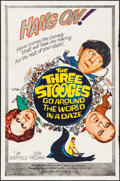 "Movie Posters:Comedy, The Three Stooges Go Around the World in a Daze (Columbia, 1963).One Sheet (27"" X 41""). Comedy.. ..."