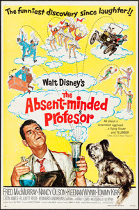 "The Absent-Minded Professor & Other Lot (Buena Vista, R-1974). Fine/Very Fine. One Sheets (2) (27"" X 41&quo..."