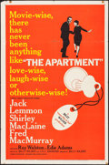 "Movie Posters:Comedy, The Apartment (United Artists, 1960). One Sheet (27"" X 41"").Comedy.. ..."