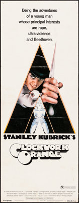 """A Clockwork Orange (Warner Brothers, 1971). Insert (14"""" X 36"""") X Rated Version. Science Fiction"""