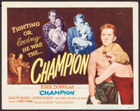 "Champion (United Artists, 1949). Title Lobby Card (11"" X 14""). Sports"